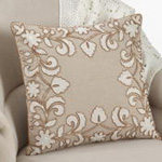 1604 beaded floral pillow