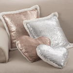 1607 sequin + sherpa pillow