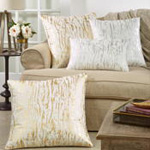 1612 distressed foil print pillow