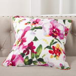 1619 printed floral design pillow