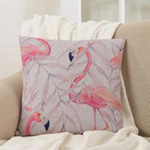 1811 flamingo pillow