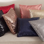 1963 sequin pillow