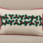 2023 holly leaves pillow