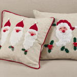 2024 holly jolly santa pillow