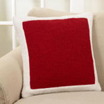 2050 sherpa border holiday pillow