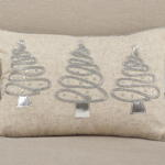2076 holiday trees pillow