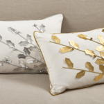 2081 poinsettia branch pillow