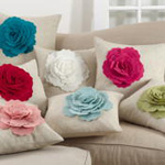 2097 felt flower pillow