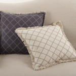 2147 fringed diamond pillow
