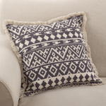2152 fringed aztec pillow