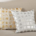 220 foil print grid pillow