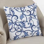 226 printed leaf and vine pillow