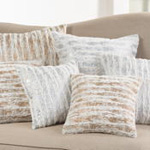 2323P Foil Print Faux Fur Pillow