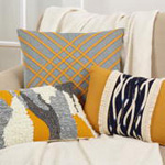 236 wavy stitched pillow