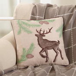 2511 faux fur reindeer pillow