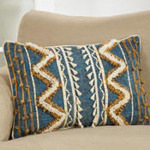 3149 block print embroidered pillow
