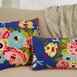 3152 embroidered flower pillow