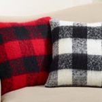 316 faux mohair buffalo plaid pillow