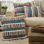 3155 block print embroidered pillow