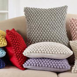 3519 crochet pompom pillow