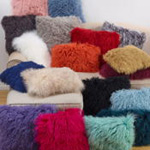3564 fur mongolian lamb pillows
