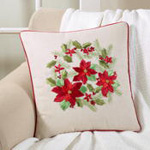 4127 poinsettia pillow