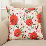 418P holiday floral pillow