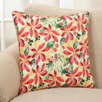 419P wild poinsettia pillow