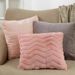 422 chevron faux fur pillow