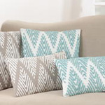 452 chevron stitched pillow