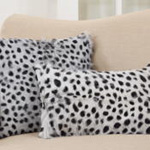 4654 dalmatian print goat fur pillow