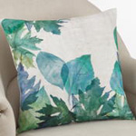 5112 watercolor leaf pillow