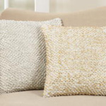 5373 foil printed pom pom pillow