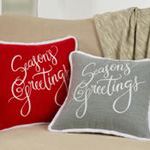 5413 season's greetings pillow