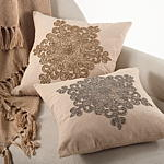 561 celestial snowflake pillows