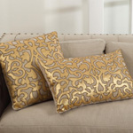 5807 applique and beaded pillows