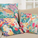 5913 tropical turtle pillow