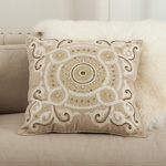 5968 embroidered and beaded design pillows