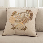 5970 embroidered and beaded turkey design pillows