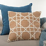 602 lacey jute pillow