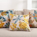 6034 embr'd hummingbird pillow