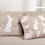 6046 embr'd rabbit pillow