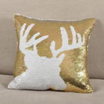 617 sequin reindeer pillow