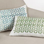 7101 emroidered mosaic pillow