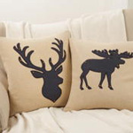 7500 moose silhouette pillow