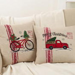 7757 holiday bicycle pillow