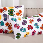 791P butterfly design pillow