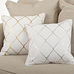 800P metallic diamond design pillow