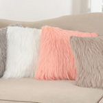 802 long hair faux fur pillow
