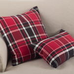 8052P plaid pillow